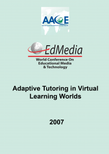 Adaptive Tutoring in Virtual Learning Worlds