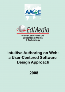 Intuitive Authoring on Web: A User-Centered Software Design Approach